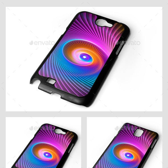 Galaxy Note Smartphone Sublimation Covers Mock-Ups