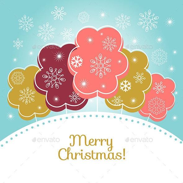 Merry Christmas Vector Card - Christmas Seasons/Holidays