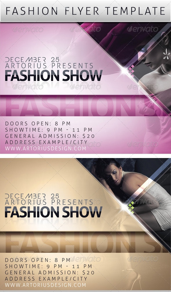 Fashion Promo Flyer Template - Clubs & Parties Events