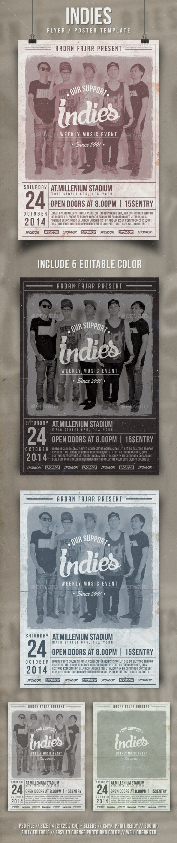Indies Flyer Template - Events Flyers