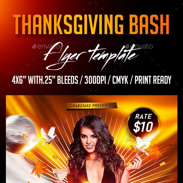 Thanksgiving Bash Flyer Template