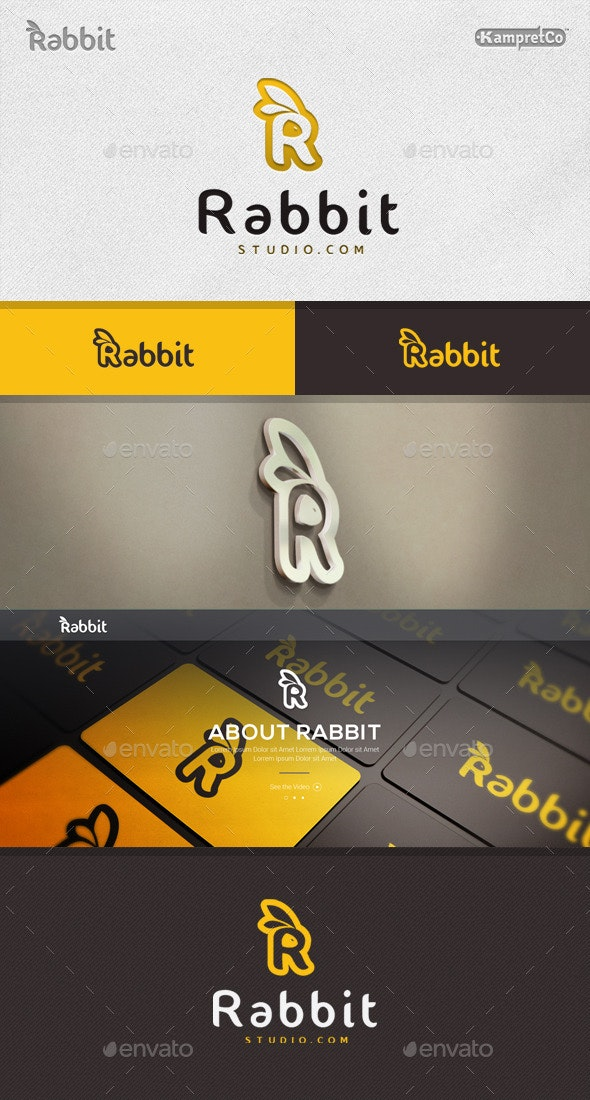 R Rabbit Logo - Letters Logo Templates