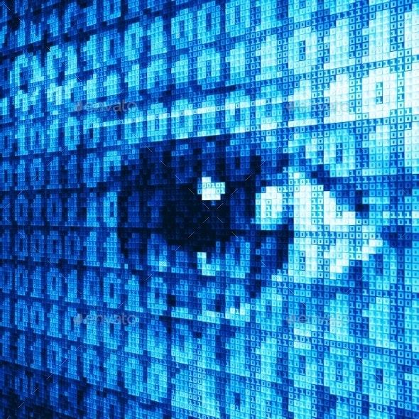 Binary Eye - Technology Conceptual