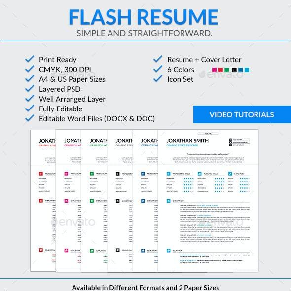 Flash Resume Template