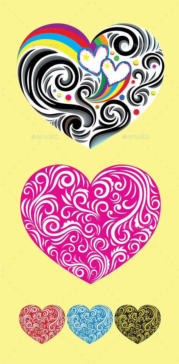 Heart Love Ornament - Decorative Symbols Decorative