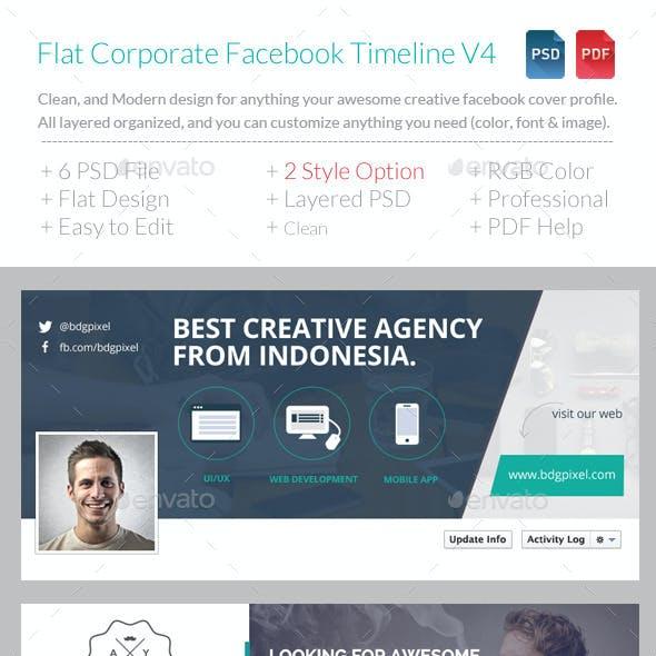 Flat Corporate Facebook Timeline V4
