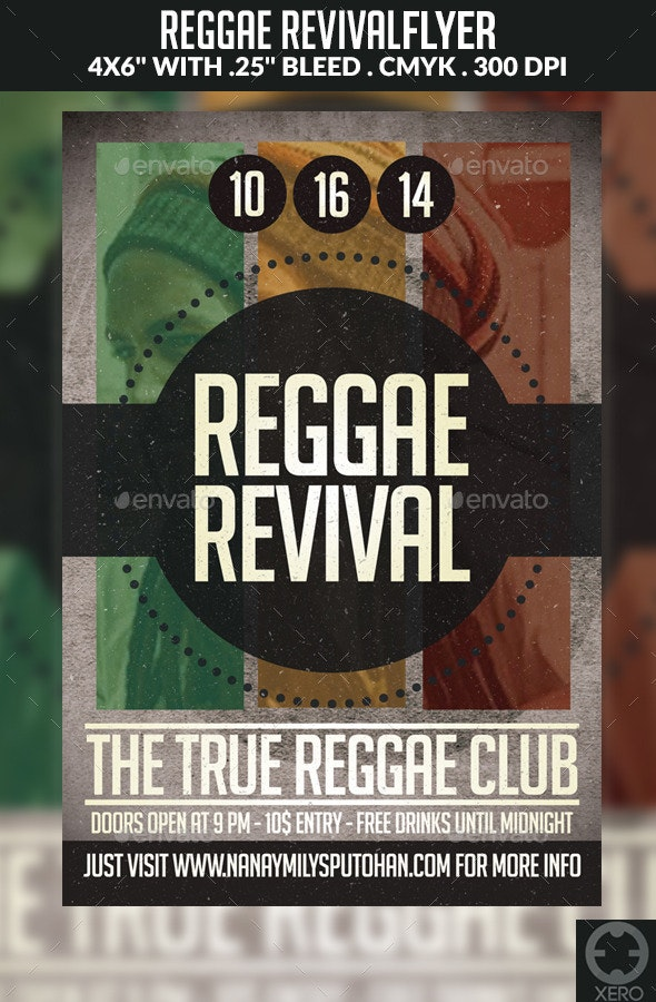 Reggae Revival Flyer - Events Flyers
