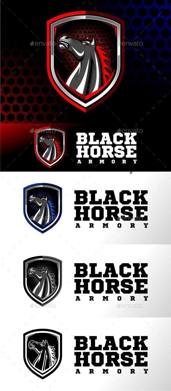 Black Horse Armory - Animals Logo Templates