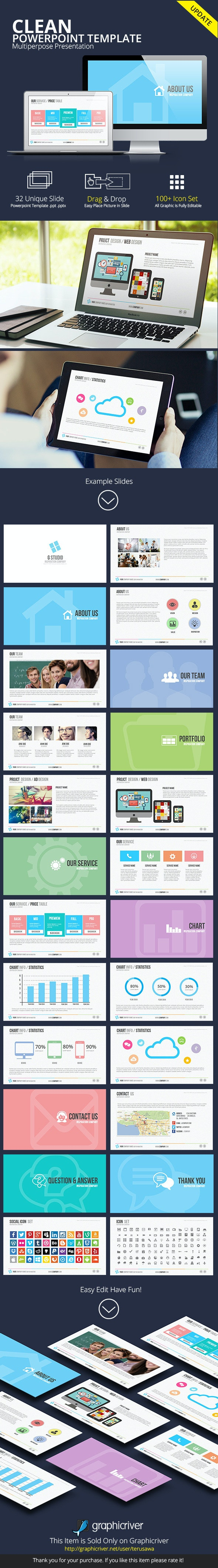 Clean Powerpoint Presentation Template - PowerPoint Templates Presentation Templates