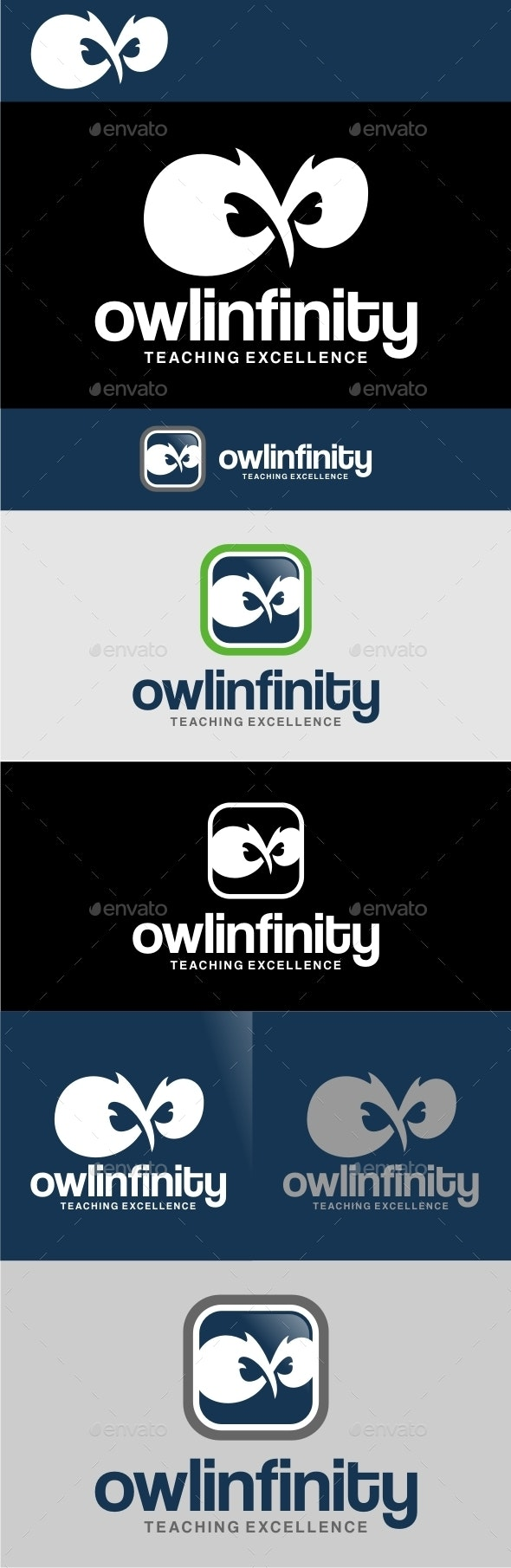 Owl Infinity - Animals Logo Templates