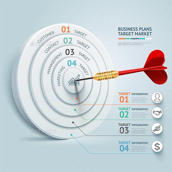 Business Target Marketing Dart Idea