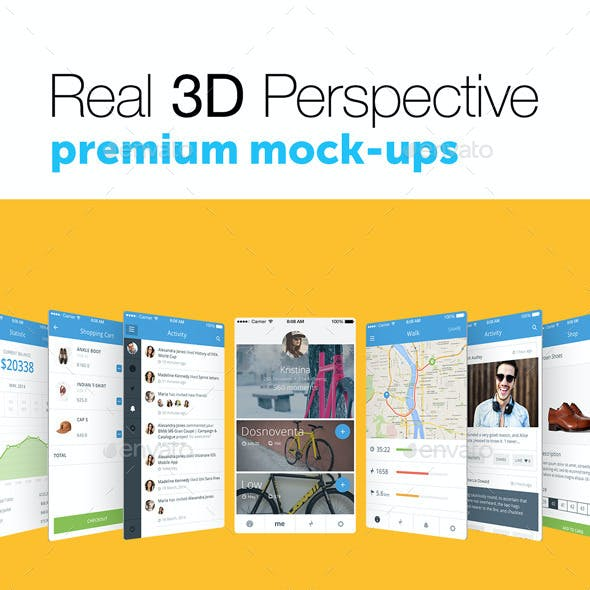4 Real 3D Perspective Mock-Ups Phone 6 Edition (I)