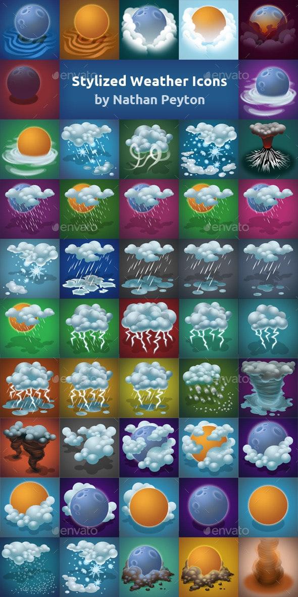Stylized Weather Icons (49)