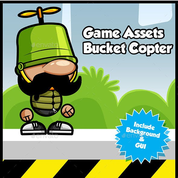 Game Asset Bucket Copter