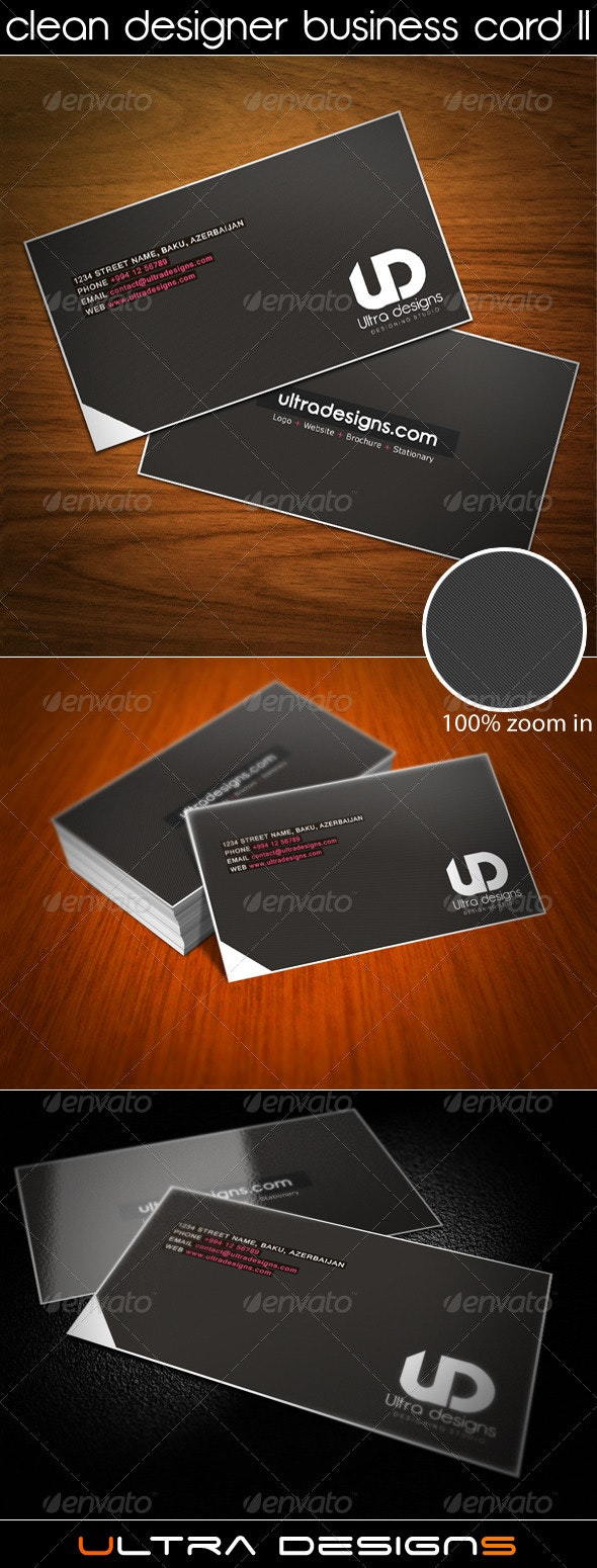Clean Designer Business Card II - Creative Business Cards