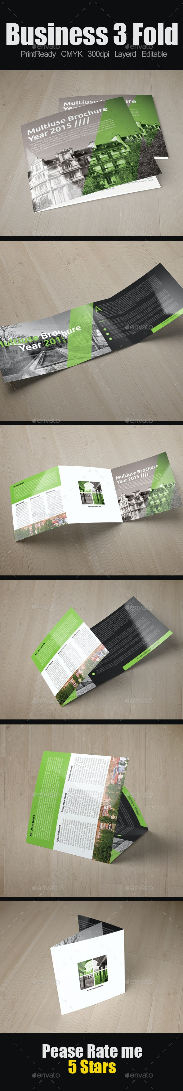 Multi Use Business Square Trifold - Corporate Brochures