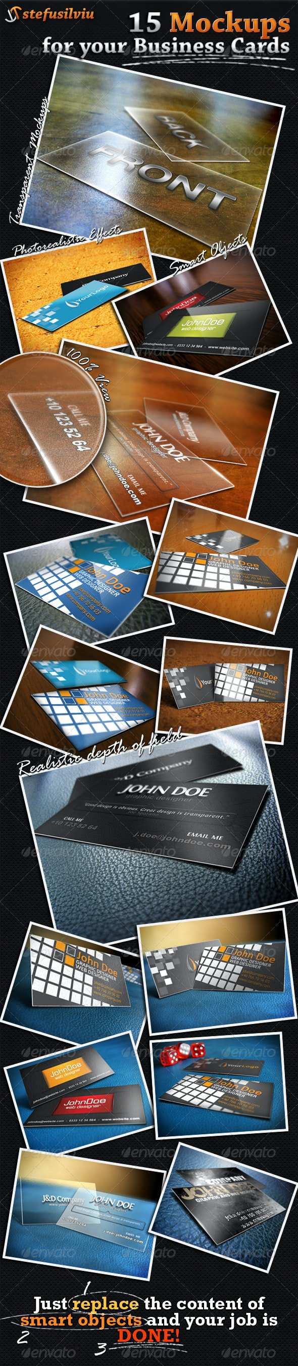 15 Realistic Business Card Mockups - Business Cards Print