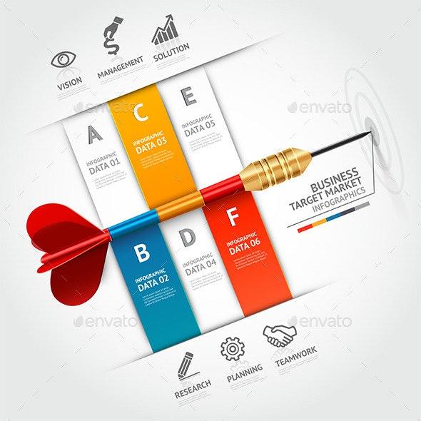 Business Target Marketing Dart Infographic - Infographics