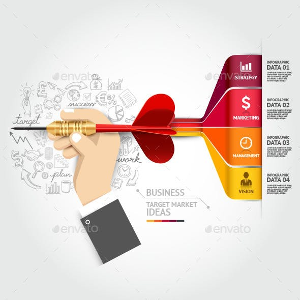 Business Target Marketing Infographics Concept