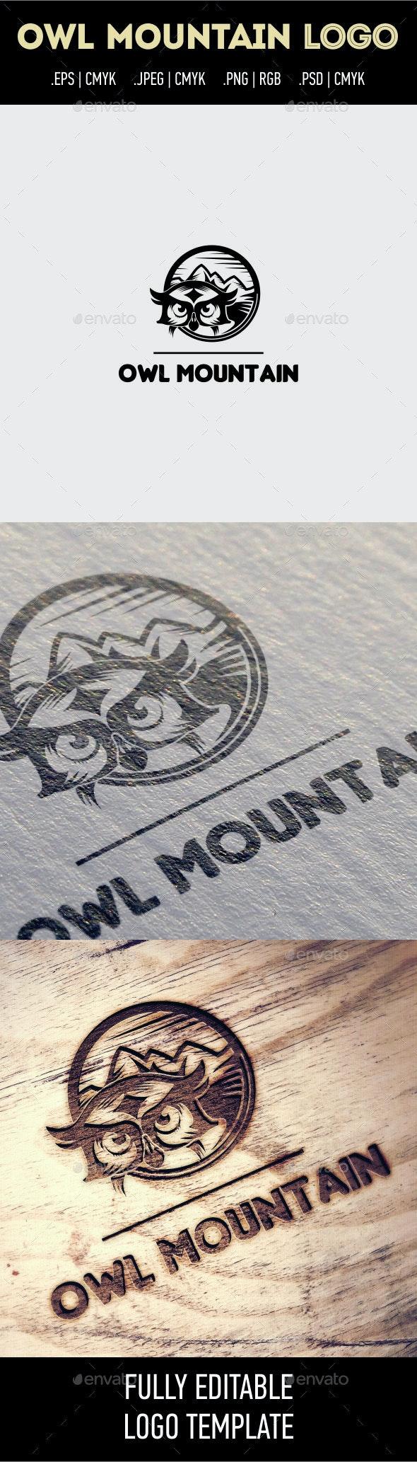 Owl Mountain Logo - Animals Logo Templates
