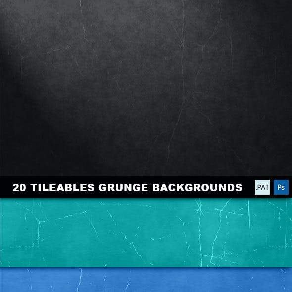 20 Tileable Grunge Backgrounds textures & pattern