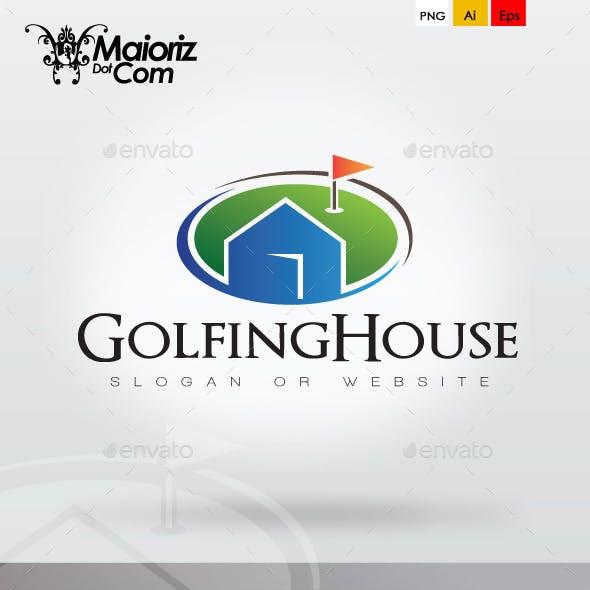 Golfing House Logo Template