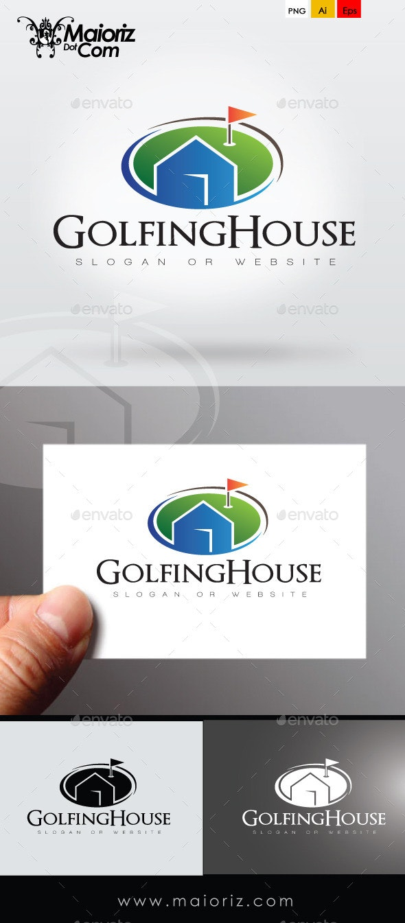 Golfing House Logo Template