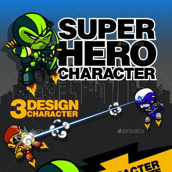 3 Super Hero Character