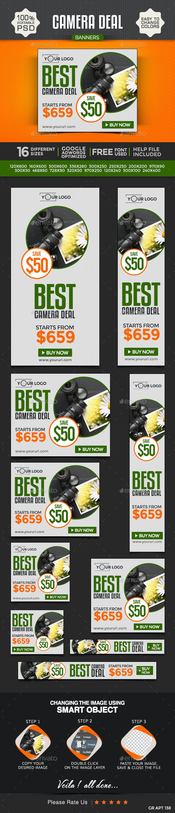 Camera & Photography Banners - Banners & Ads Web Elements