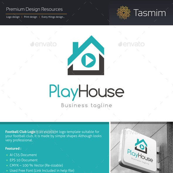 PlayHouse Logo Template