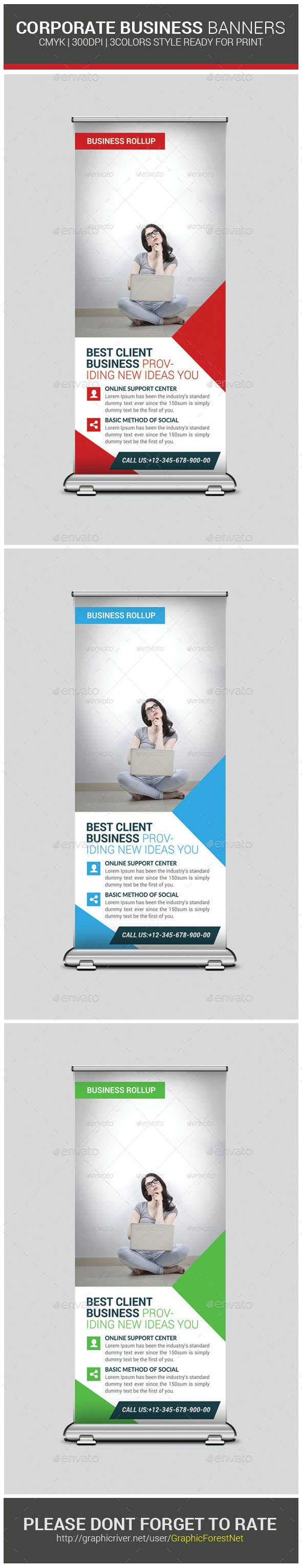 Corporate Business Banners Template - Signage Print Templates