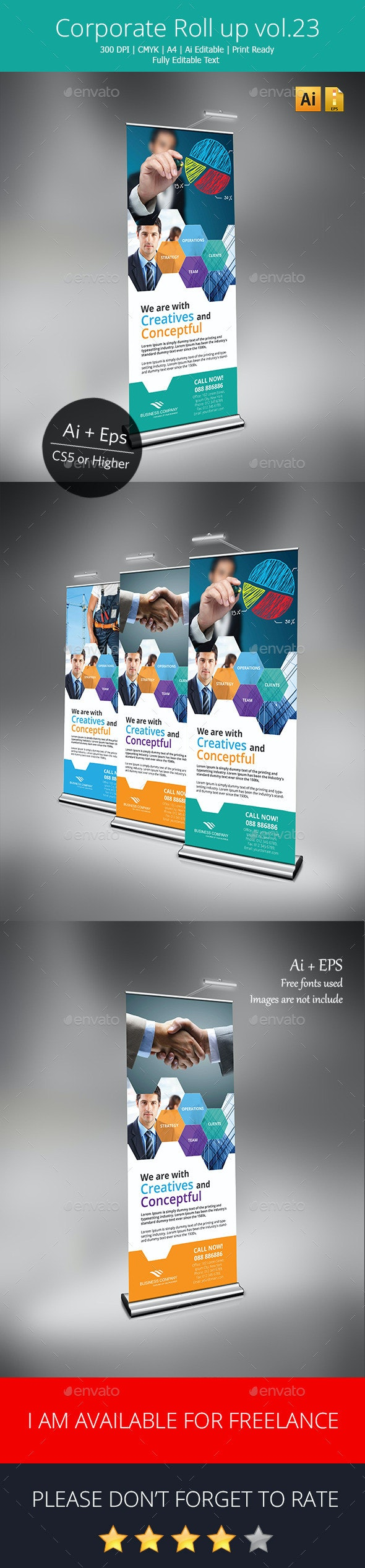 Corporate Rollup banner vol.23 - Signage Print Templates