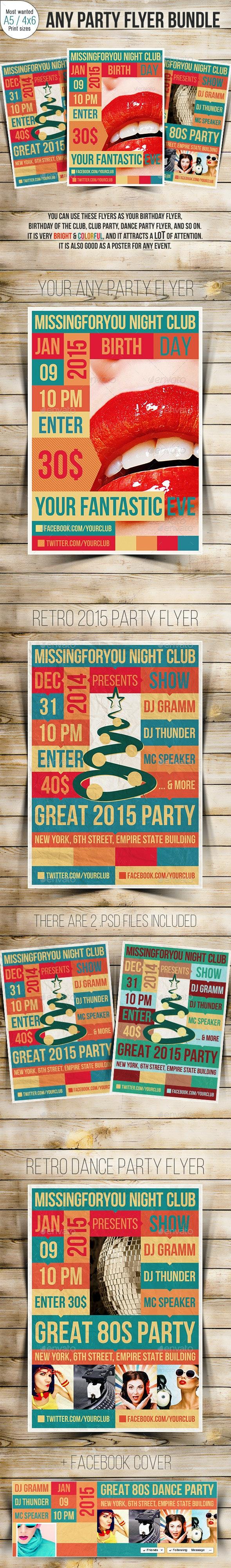 Your Party Flyer Bundle - Clubs & Parties Events