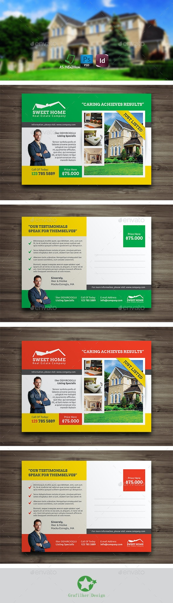 Real Estate Postcard Templates - Corporate Flyers