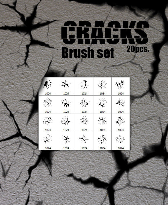 Cracks - 20pcs. Brush Set - Abstract Brushes