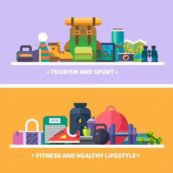 Tourism, Sports, Fitness and a Healthy Lifestyle - Sports/Activity Conceptual