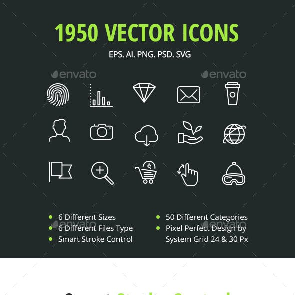 1950 Vector Icons