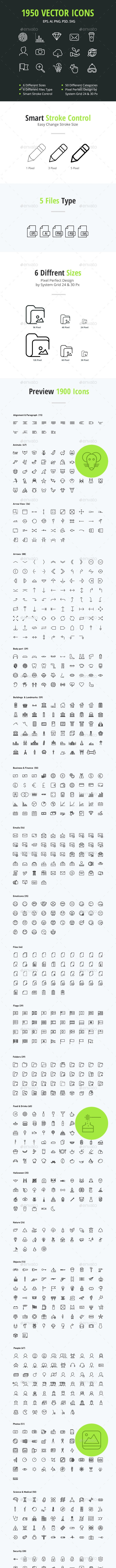 1950 Vector Icons - Icons
