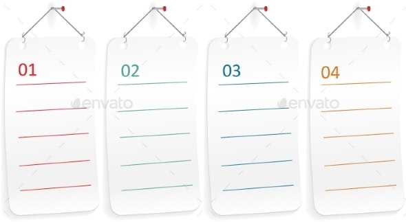 Note Paper with Push Pin - Web Technology
