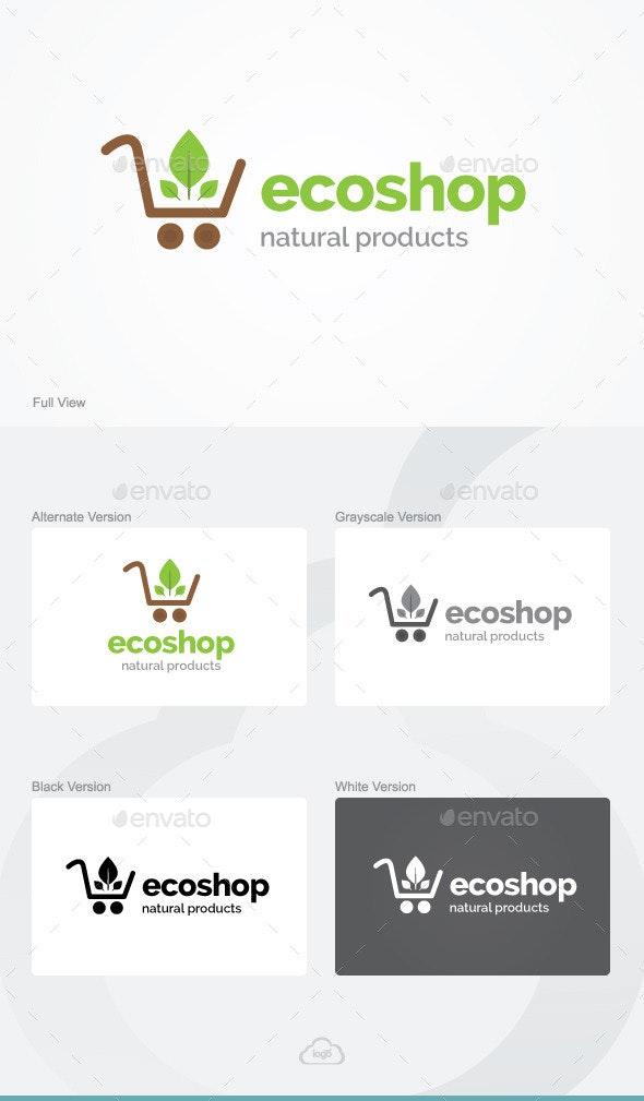 Eco Shop Logo Template - Nature Logo Templates