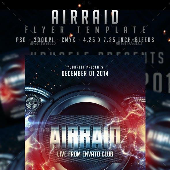 Air Raid Flyer