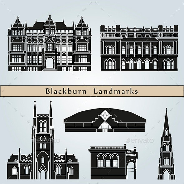 Blackburn Landmarks and Monuments - Buildings Objects