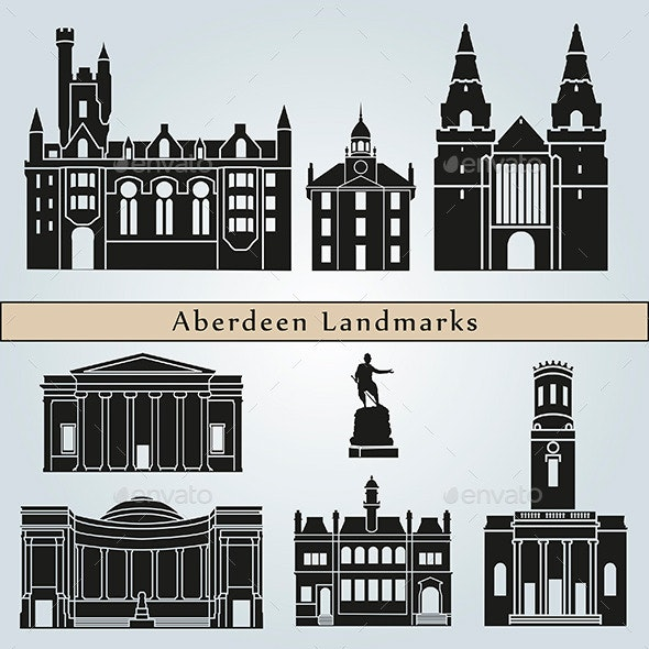 Aberdeen Landmarks and Monuments - Buildings Objects