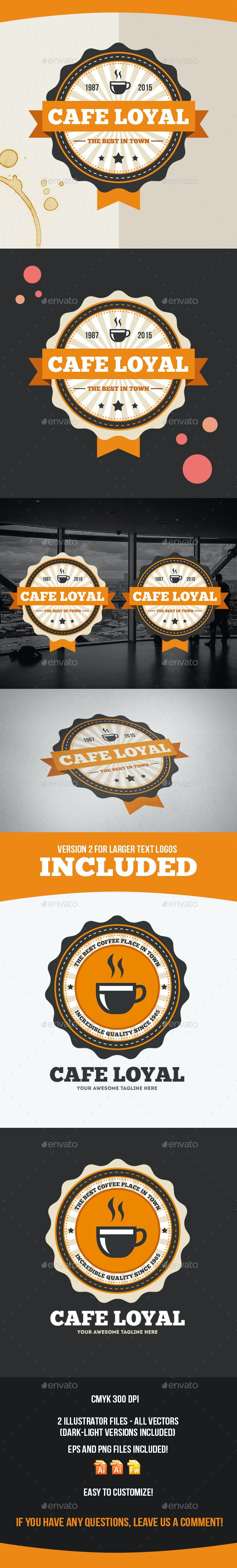 Cafe Loyal Logo Template - Food Logo Templates