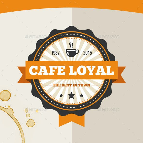 Cafe Loyal Logo Template
