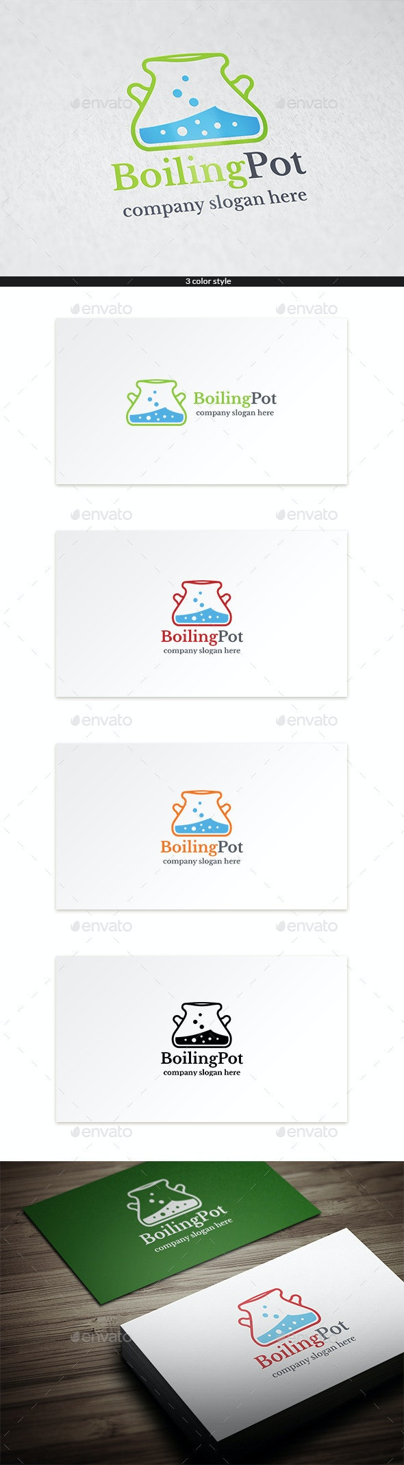 Boiling Pot Logo Template - Objects Logo Templates
