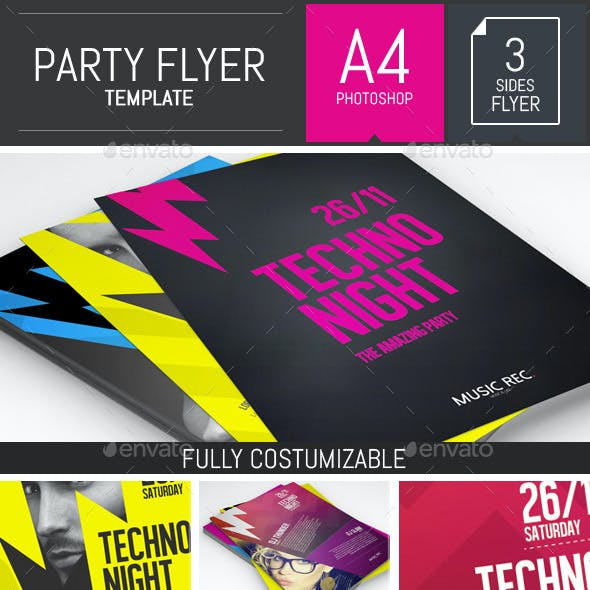 Let's Rock! Party Flyer Template