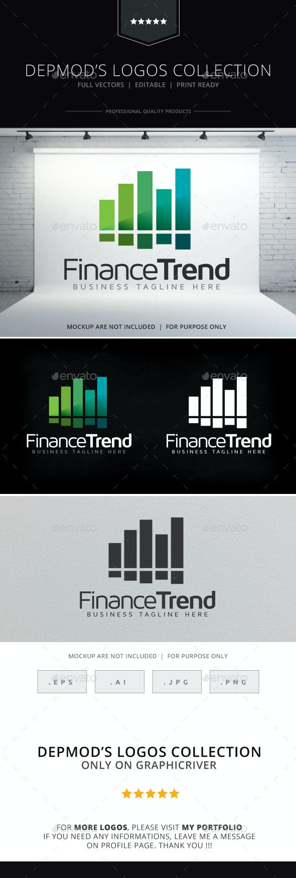 Finance Trend Logo - Symbols Logo Templates