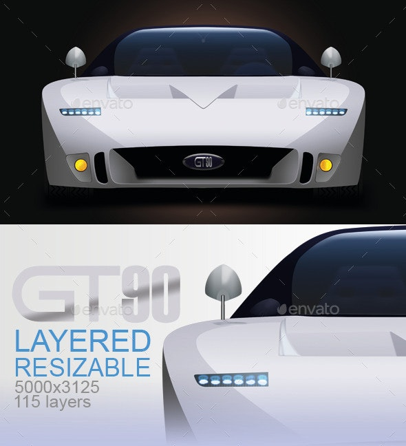 GT90 Concept Car  - Objects Illustrations