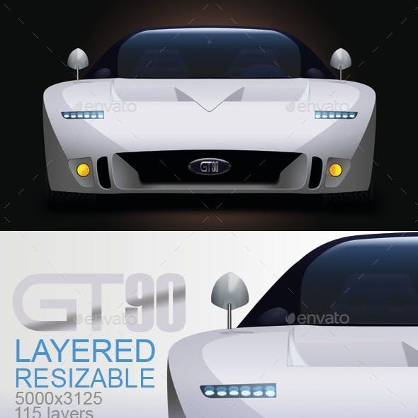 GT90 Concept Car Layered PSD